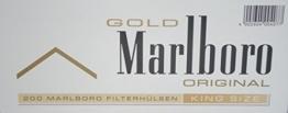 1.000 Marlboro Gold Filterhülsen - 1