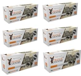 10000 Zigarettenhülsen 20 x 500 Stück Filterhülsen Zum Stopfen von Zigaretten mit Tabak und Zigarettenstopfer Orange Country Hülsen -
