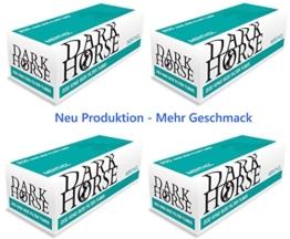 20 x 200 MENTHOL Zigarettenhülsen DARK HORSE Mentholhülsen Filterhülsen TIP (4000 Stück) Aroma versiegelt in Folie für frischen Rauchgenuss -