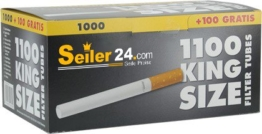 Seiler24 Zigarettenhülsen 1000 Stück XXL Pack + 100 Gratis - 1